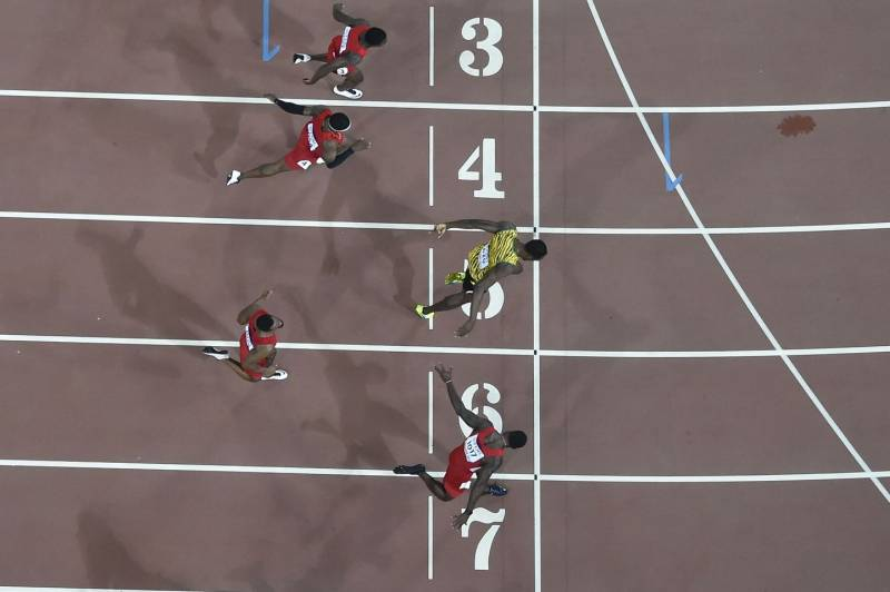 "Bolt batte Gatlin in 9""79"