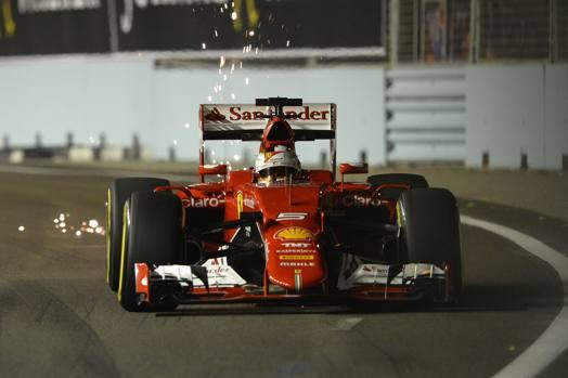 Trionfo di Sebastian Vettel nel GP di Singapore di Formula Uno