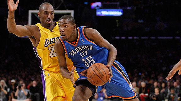 Kevin Durant e Kobe Bryant