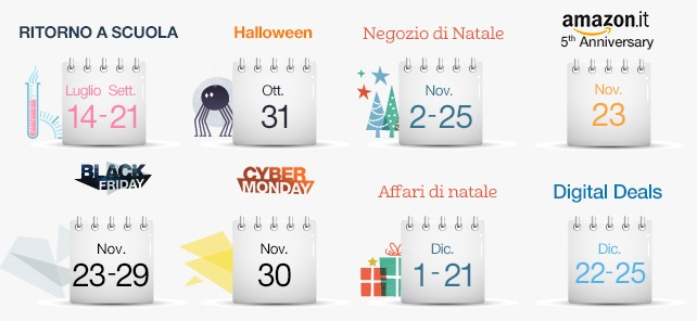 I prossimi eventi Top di #Amazon del 2015