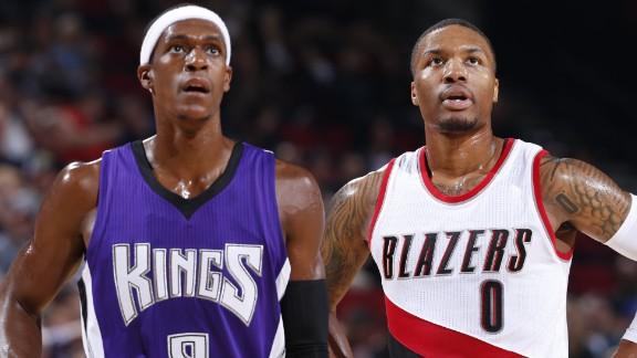 NBA: Rondo, in maglia Kings, contro Lillard, in maglia Blazers