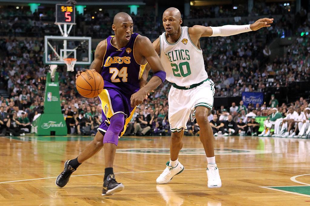 Kobe Bryant al TD Garden contro Ray Allen nelle NBA Finals