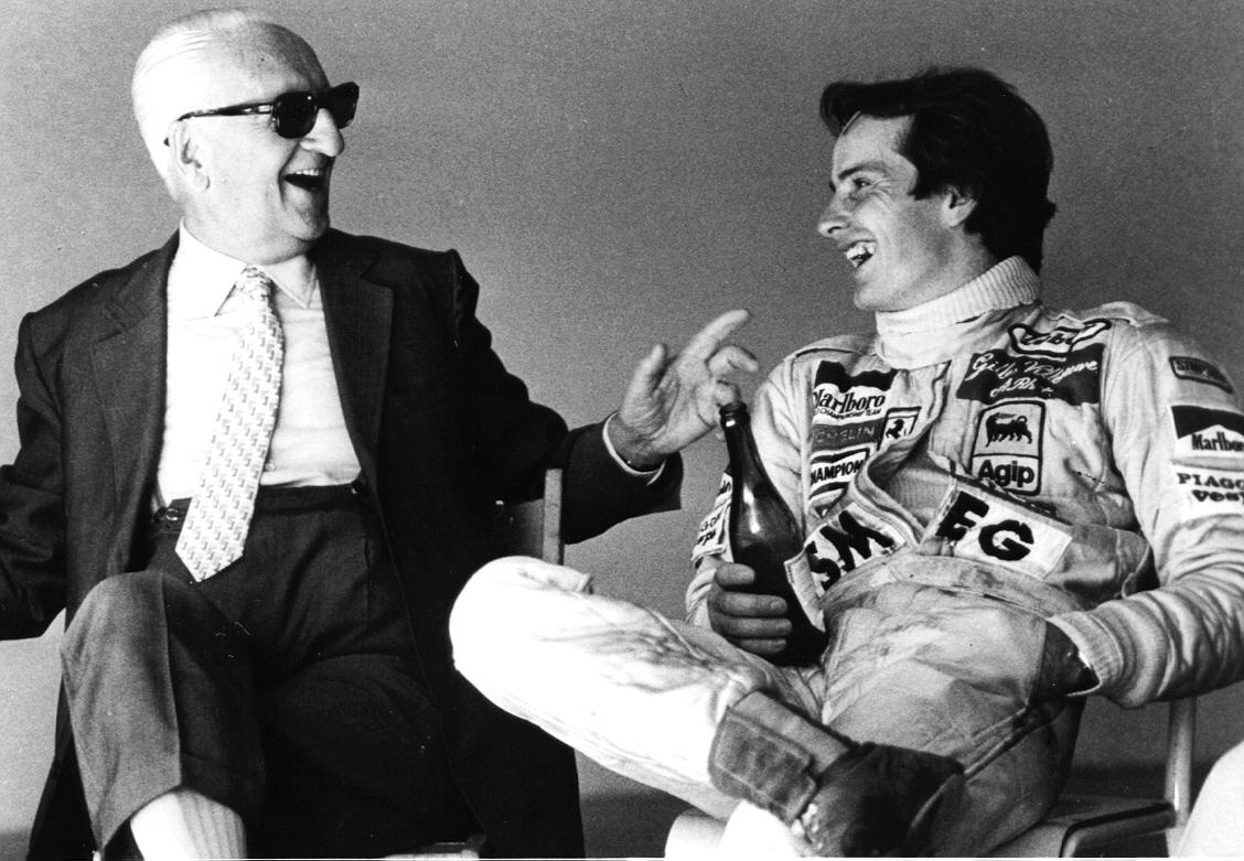 Enzo Ferrari con il grande Gilles
