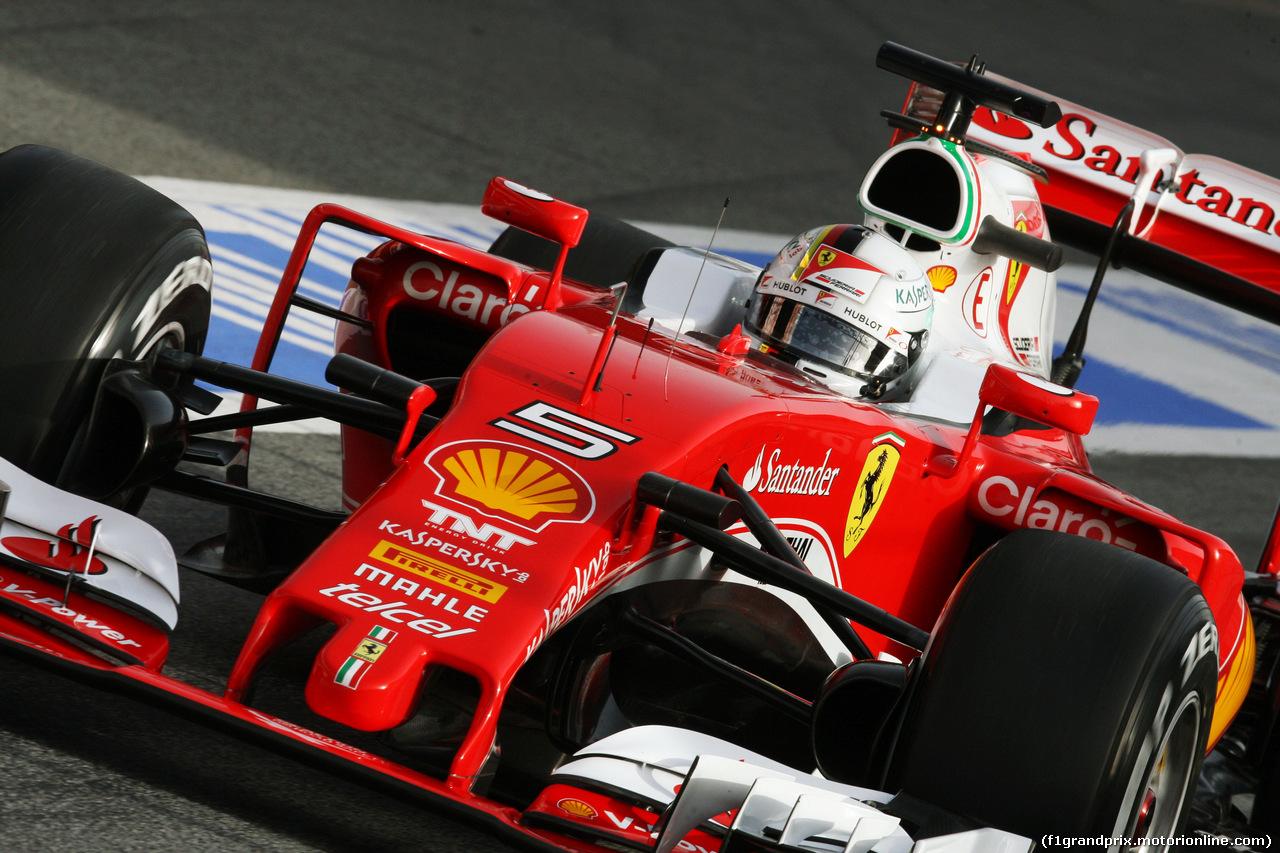 La SF16-H di Sebastian Vettel