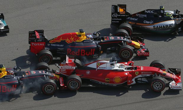 Kyvat tampona la Ferrari di Vettel