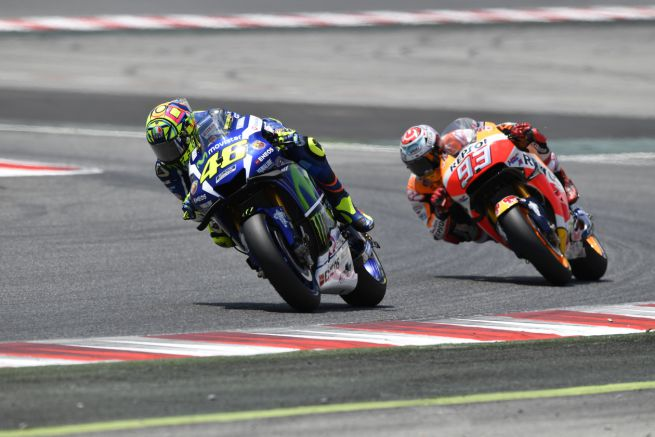 Rossi davanti a Marquez