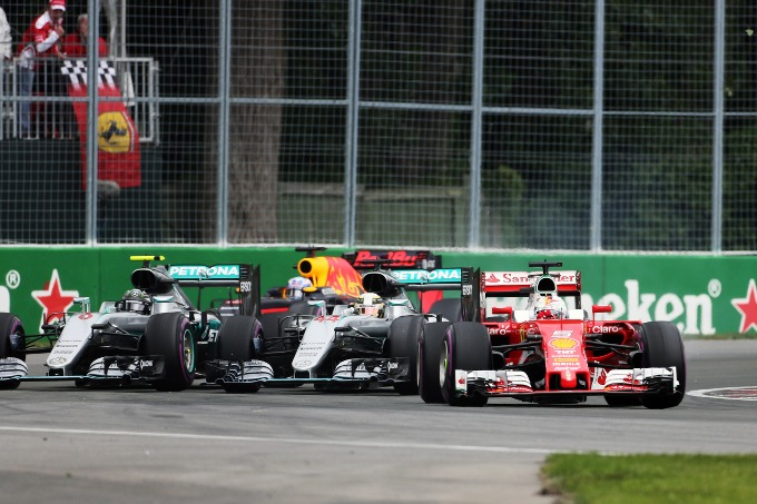 Sebastian Vettel è scattato in modo magistrale