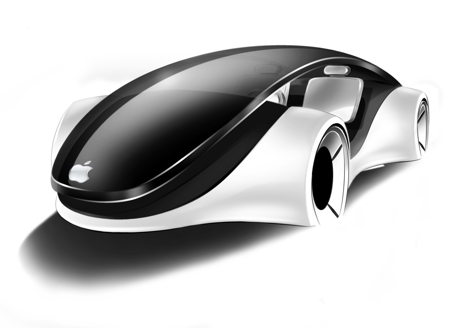 Il rendering di una possibile Apple Car