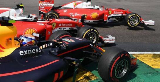 Il contatto al via del GP del Belgio 2016