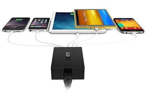 Caricabatterie USB da muro AUKEY da 50W