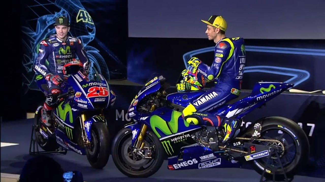MotoGP: presentata la Yamaha 2017 di Rossi e Vinales