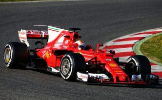 La Ferrari SF70H di Sebastian Vettel a Barcellona