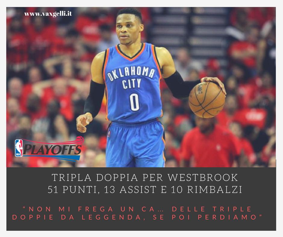 La tripla doppia di Westbrook