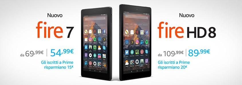 Amazon: offerte speciali su Fire e Kindle per i clienti Prime
