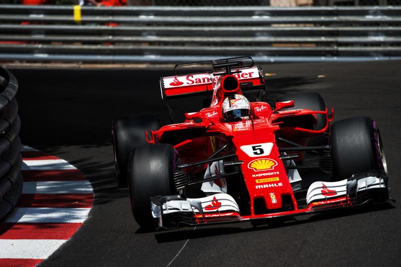 Sebastian Vettel in azione nel GP di Monaco