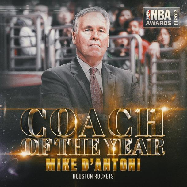 Mike D'Antoni allenatore dell'anno