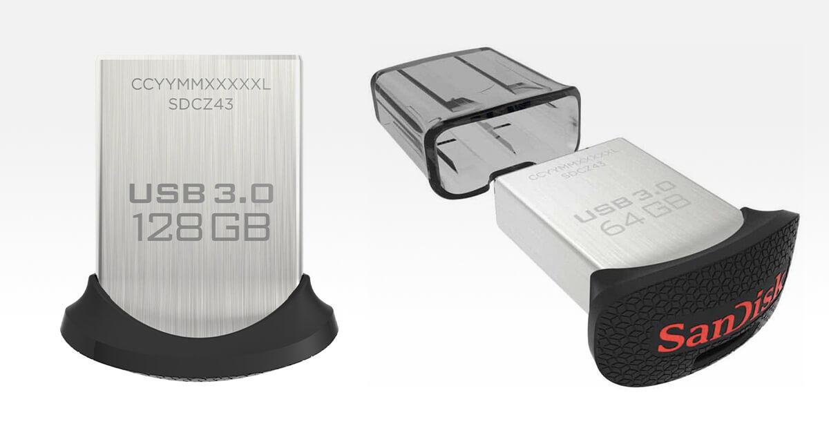 Unità Flash Ultra Fit nella versione da 128GB