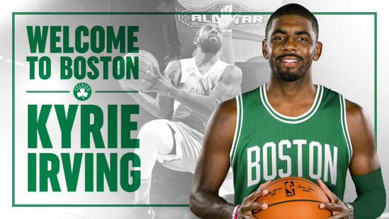 I Celtics danno il benvenuto a Kyrie Irving