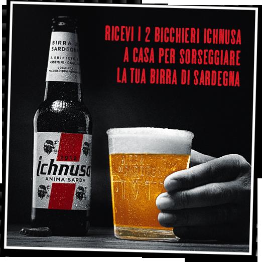 Prenota i tuoi bicchieri marchiati Birra Ichnusa!