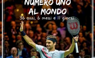 Roger Federer torna Numero 1 al Mondo