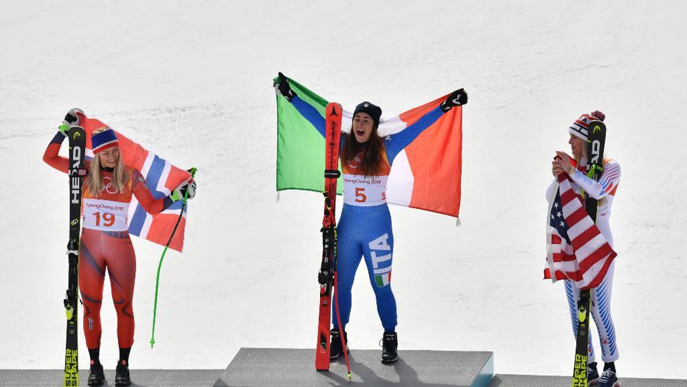 Il podio olimpico. Oro per Sofia Goggia!
