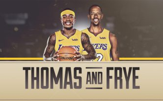Isaiah Thomas e Channing Frye ai Lakers