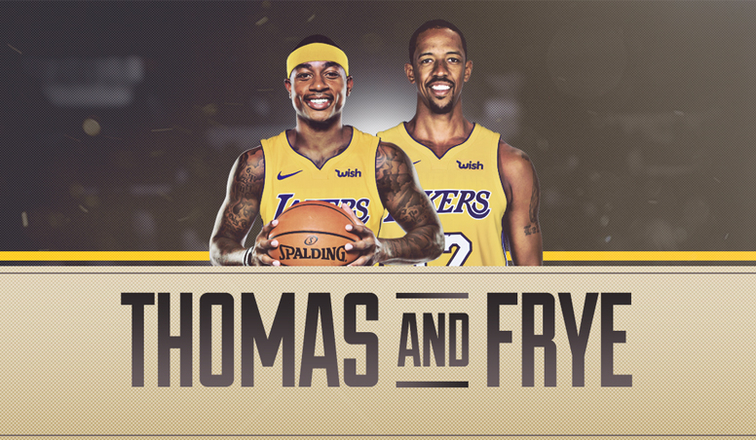 Isaiah Thomas e Channing Frye ai Lakers