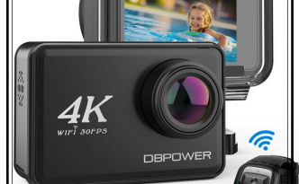 DBPOWER Action Camera 4K con touchscreen