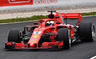 Sebastian Vettel sulla SF71H