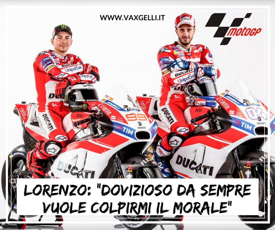 MotoGP: Lorenzo attacca Dovizioso