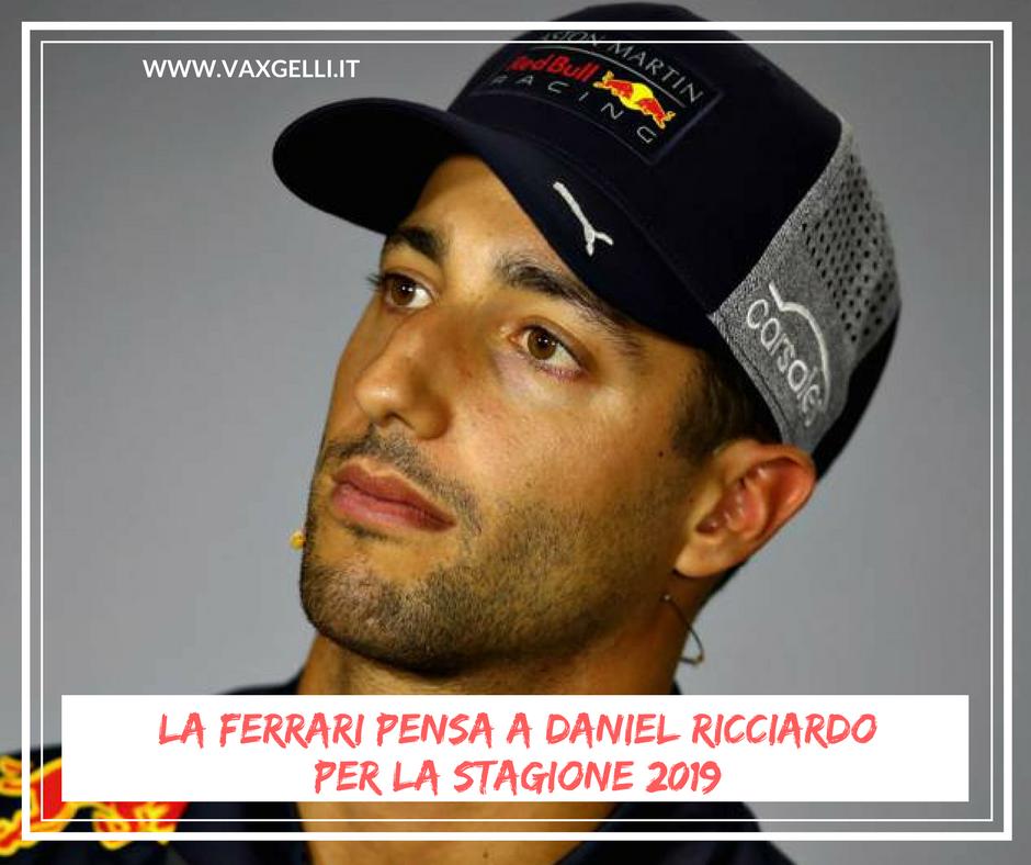 La Ferrari pensa a Ricciardo per il 2019