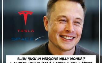 Elon Musk in versione Willy Wonka?