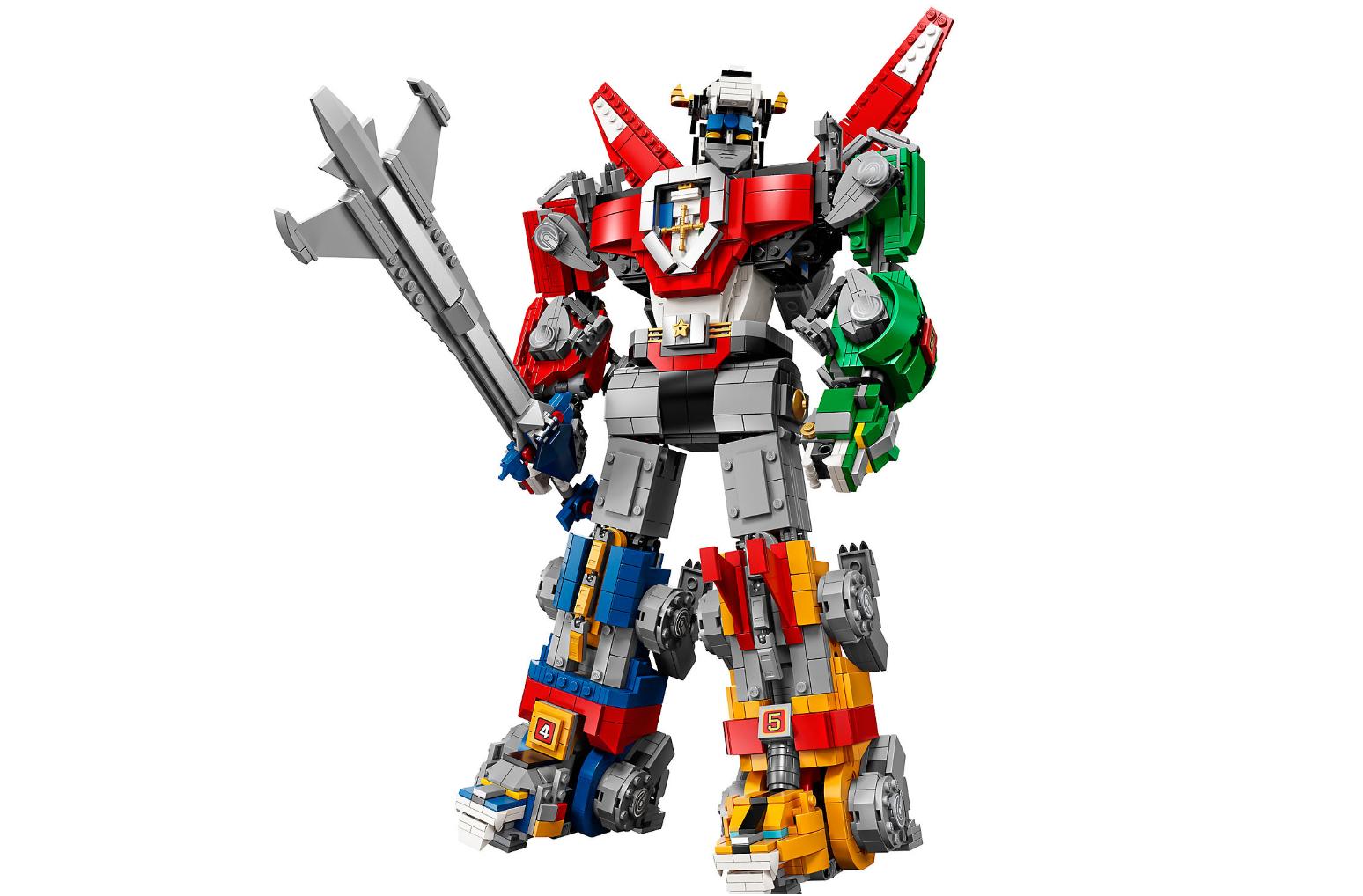 Il set Lego dedicato a Voltron