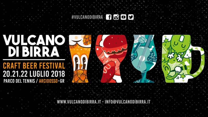 Vulcano di Birra 2018: birre artigianali in Toscana - Dal 20 al 22 luglio ad Arcidosso