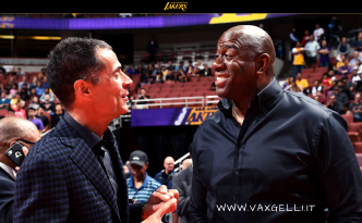 Magic Johnson e Rob Pelinka