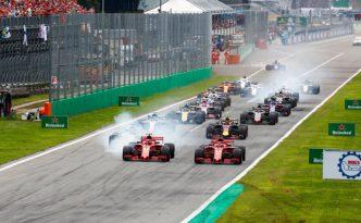 La partenza del GP d'Italia 2018