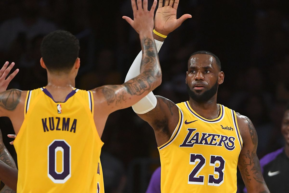 LeBron James e Kyle Kuzma