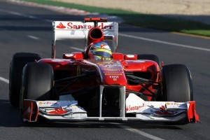 Alonso in pista a Melbourne 2011
