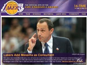 Ettore Messina ai Lakers