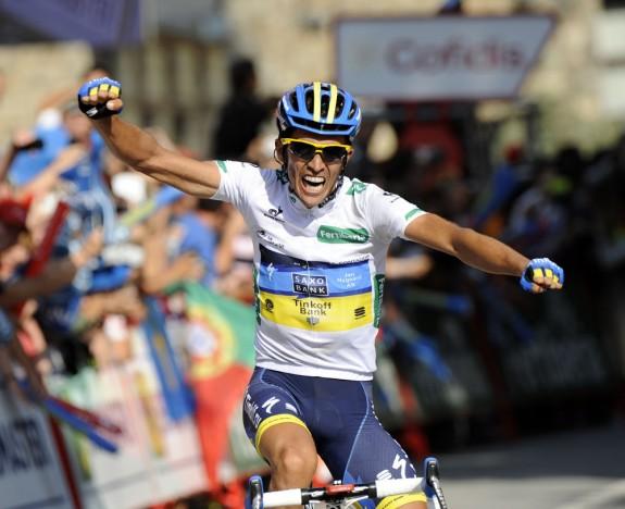 Vuelta: Contador trionfa a Fuente Dé