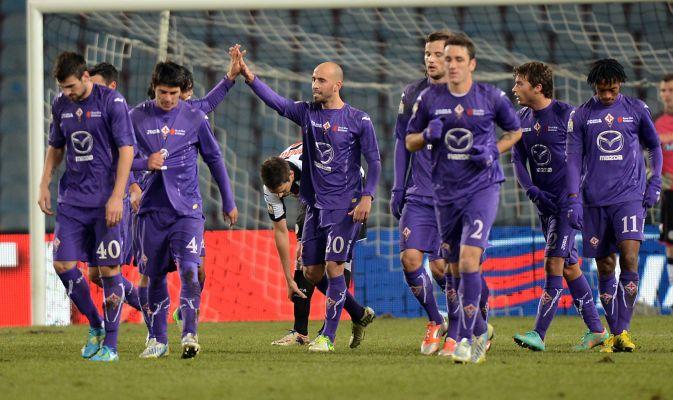 Borja Valero festeggia il gol all'Udinese