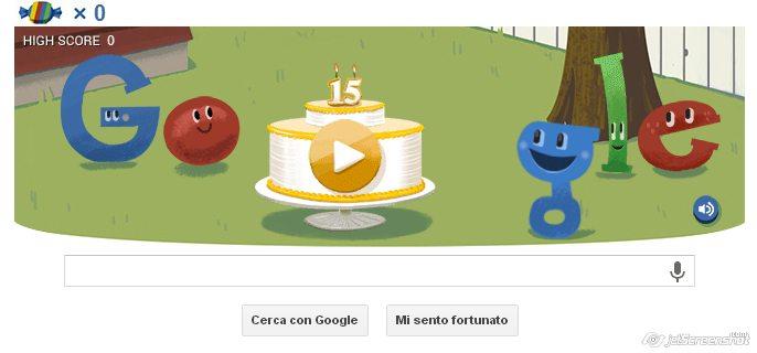 Buon compleanno Google! Il motore di ricerca compie 15 anni