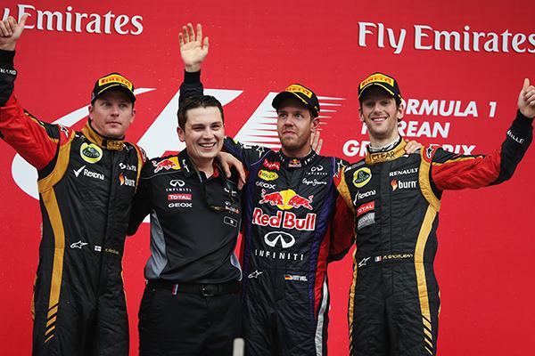 Formula Uno: il podio di Corea 2013