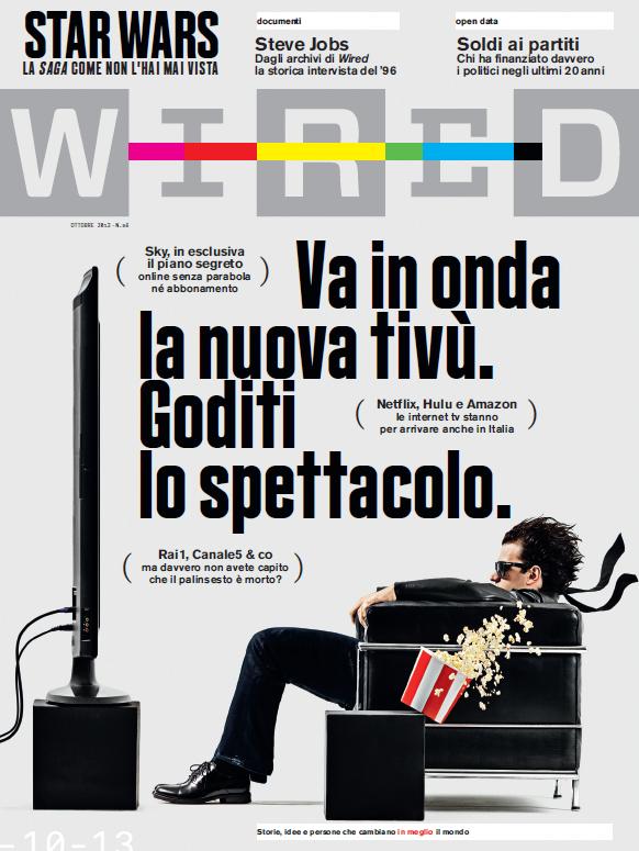 La copertina del numero di Ottobre 2013 di Wired