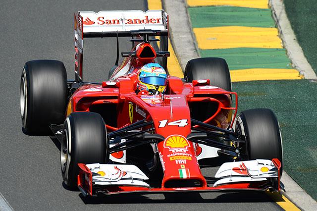 Alonso in azione a Melbourne 2014