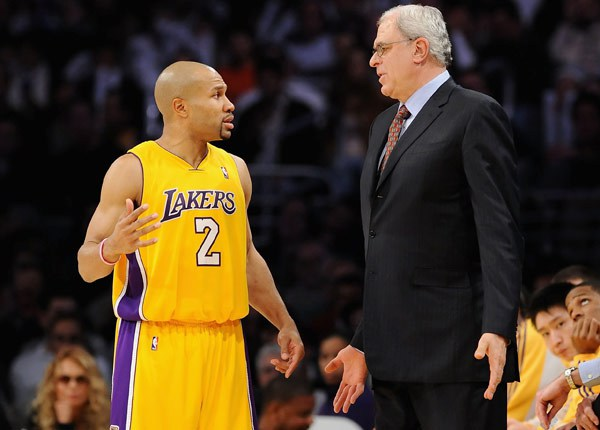 Derek Fisher e Phil Jackson ai tempi dei Lakers