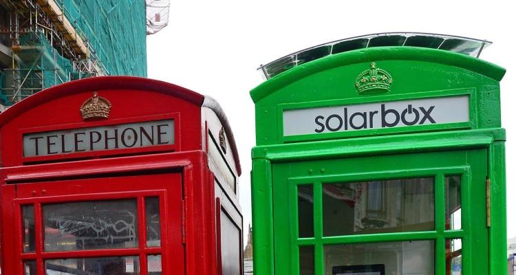 Cabina Solarbox a Londra