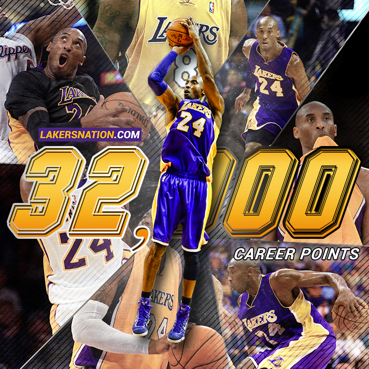 Kobe Bryant a quota 32.000 punti in carriera