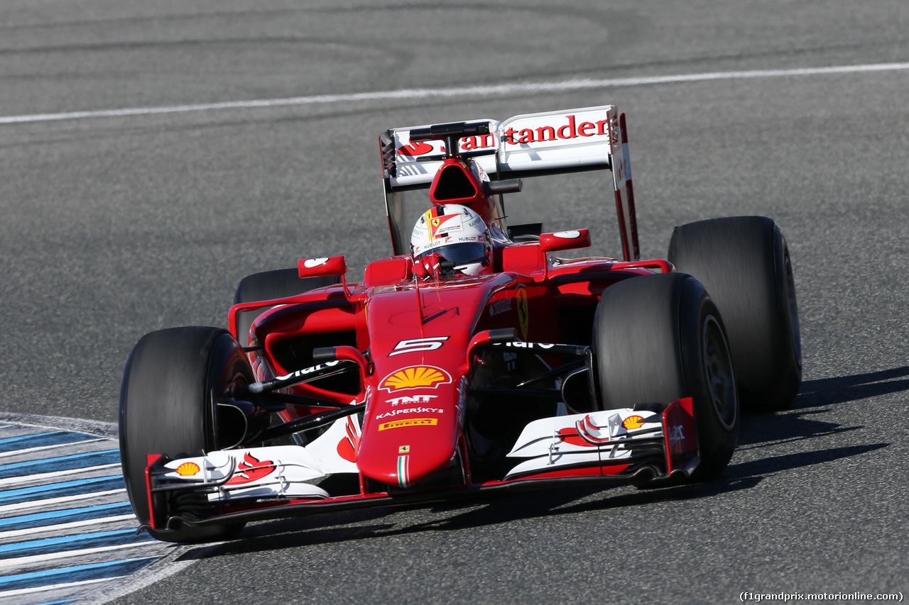 Test F1: a Jerez Vettel parte subito forte con la Ferrari SF15-T