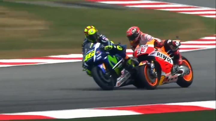 Rossi e Marquez a Sepang